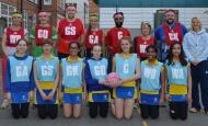 staff v girls netball
